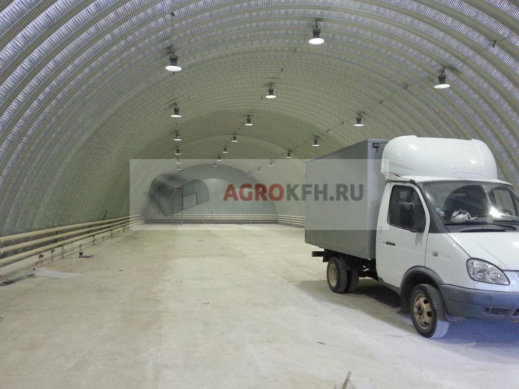 Ангар-гараж из металлоконструкций