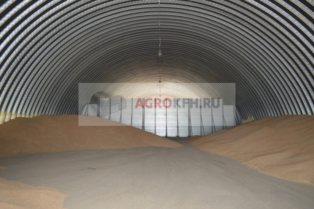 Зернохранилище: бескаркасный ангар
