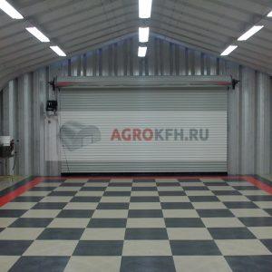 Проект гаража из металлоконструкций