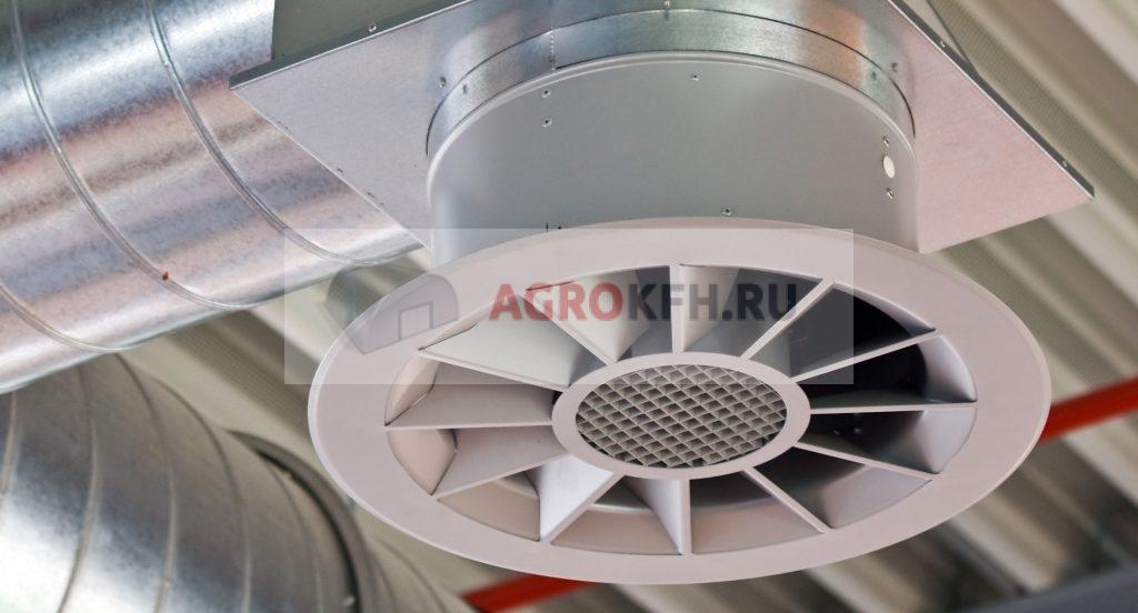 вытяжные потолочные вентиляторы для производственных помещений