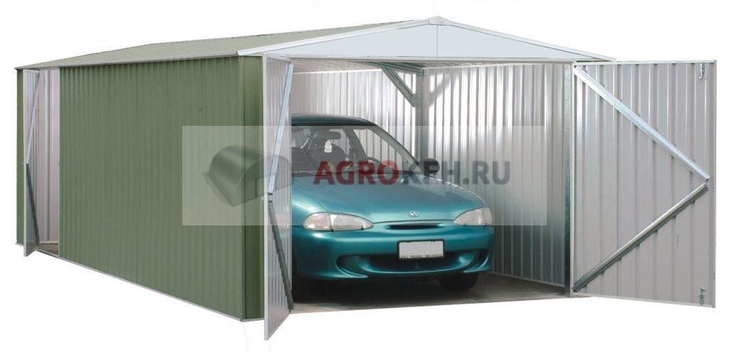 Монтаж гаража из металлоконструкций