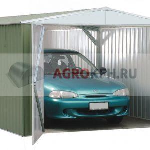Постройка гаража из металлоконструкций