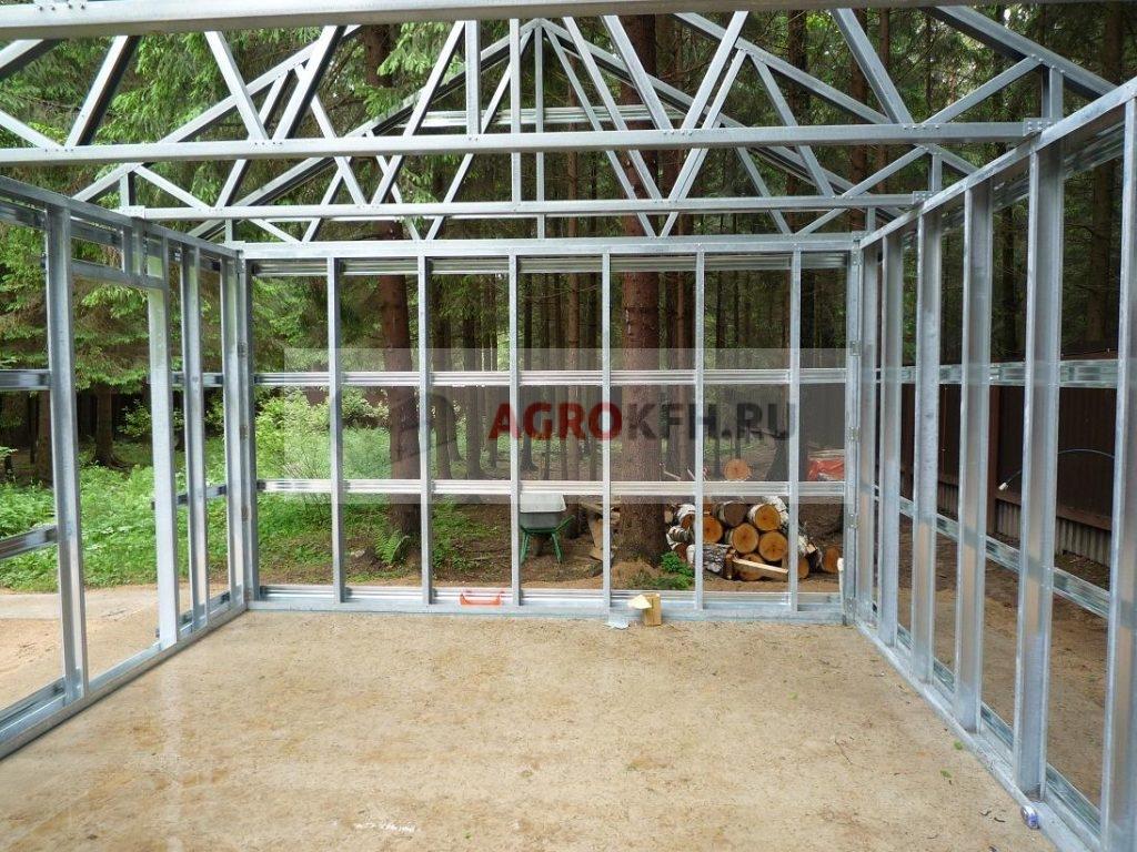 Строительство гаража из металлоконструкций своими руками