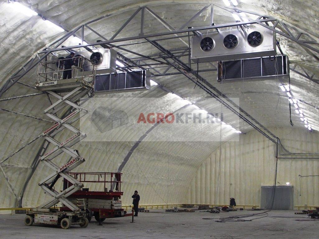 Монтаж системы вентиляции овощехранилища