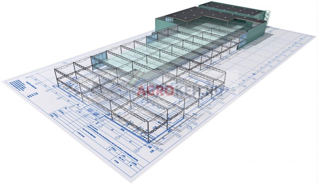 Планировка и расчет площади производственных зданий